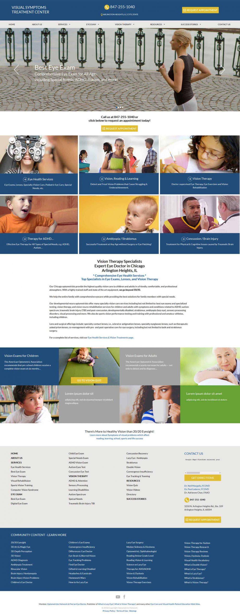 Vision Symptoms Treatment Center