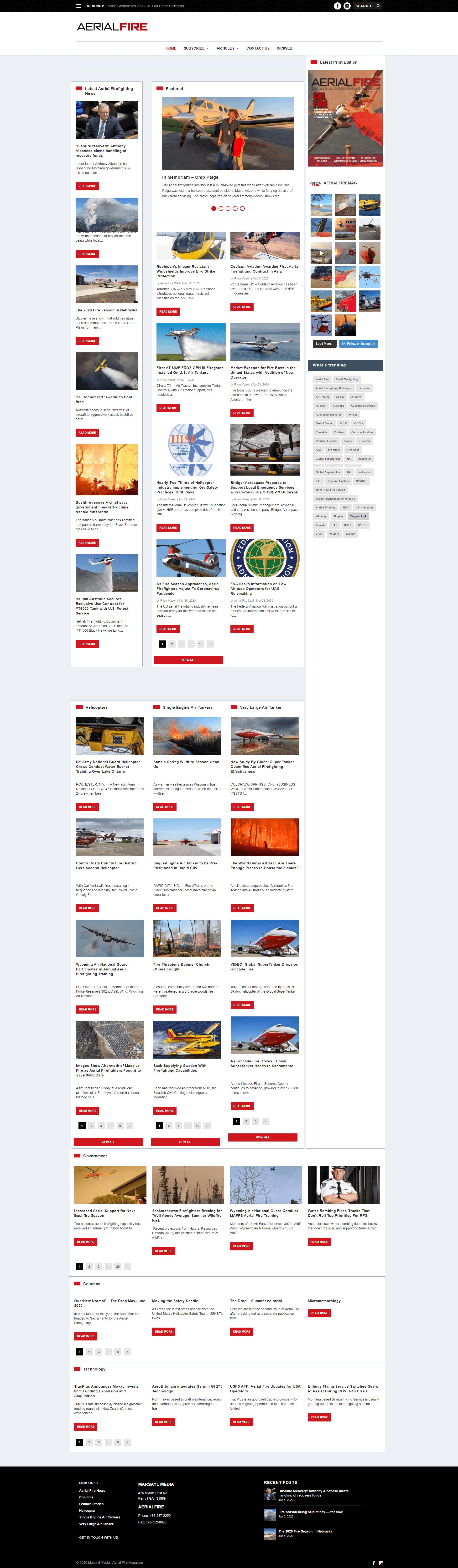Aerial Fire Magazine